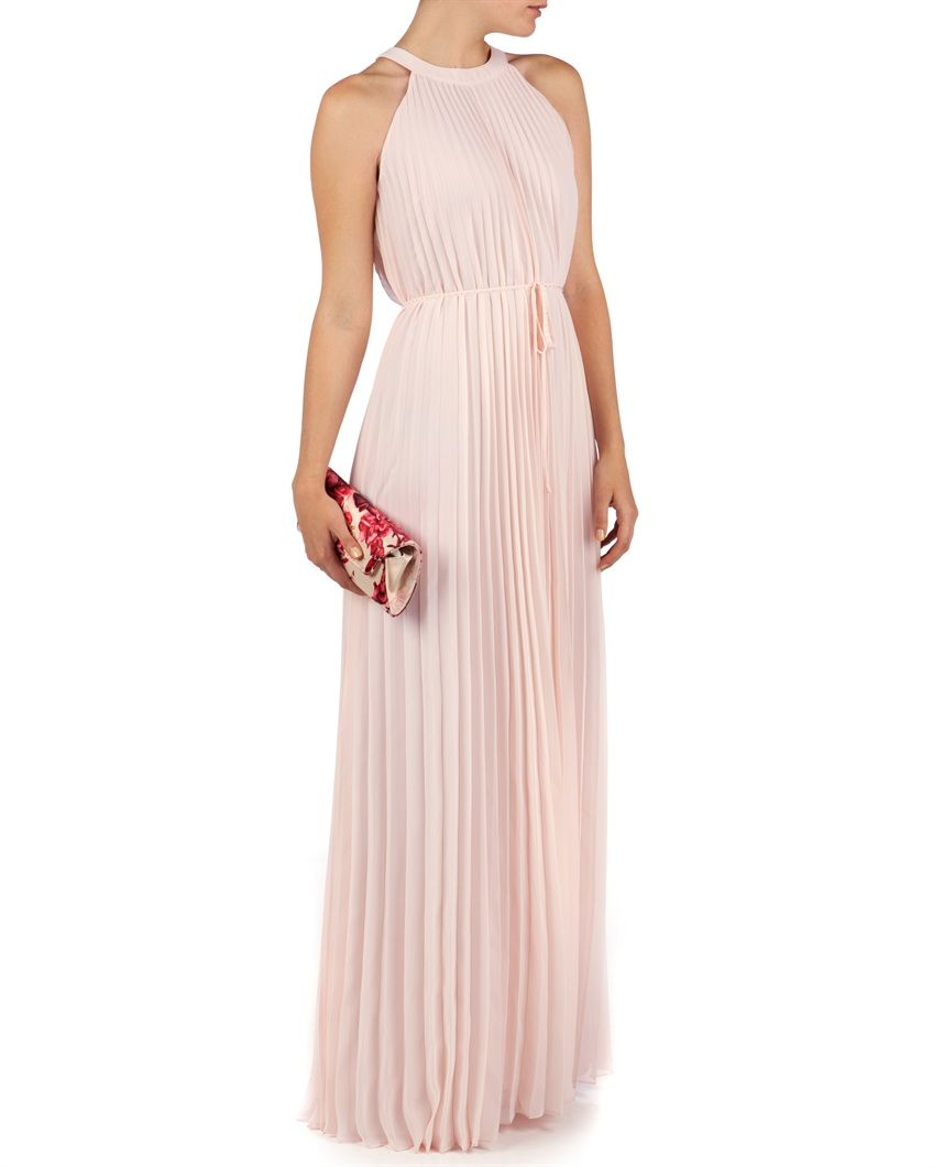 faa1fdac5d TED BAKER - HAYLEA - Pleated maxi dress £199