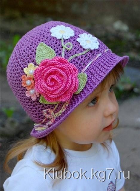Детская шапочка крючком Мастер-класс | Клубок