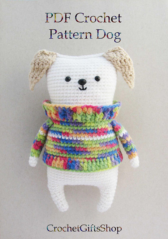 Amigurumi Dog SALE Crochet pattern with Instant Download pdf Cute ...