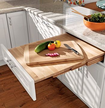 A Pull Out Table Creates An ADA Accessible Workspace Or Dining Area