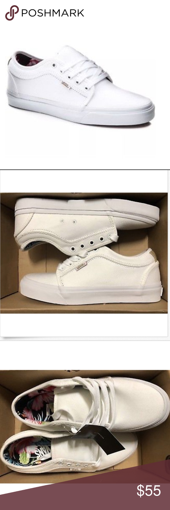 f327738d715 Vans Chukka Low Aloha White Twill Shoes Vans Chukka Low Aloha White Twill  Size Men 7.5 Brand new in box Vans Shoes Athletic Shoes