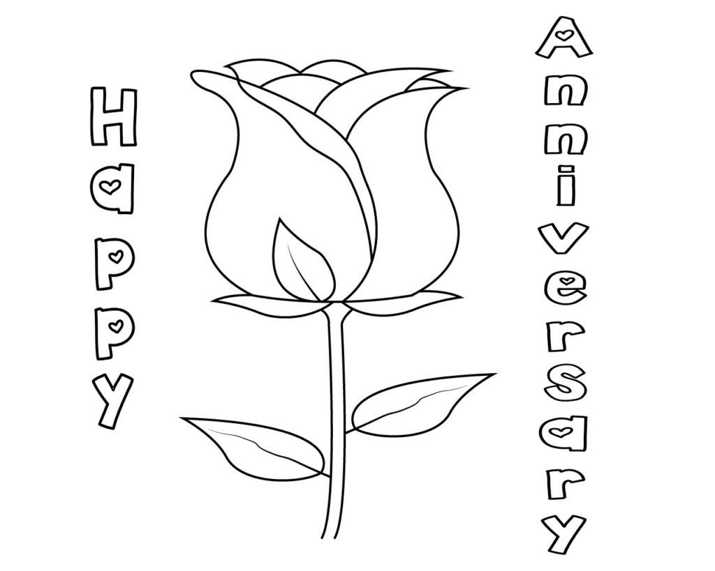 Happy Anniversary Printable Coloring Pages Happy Anniversary Birthday Coloring Pages Happy Birthday Coloring Pages
