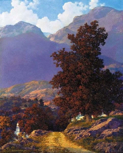 wasbella102: Road to the Valley, Maxfield Parrish ...