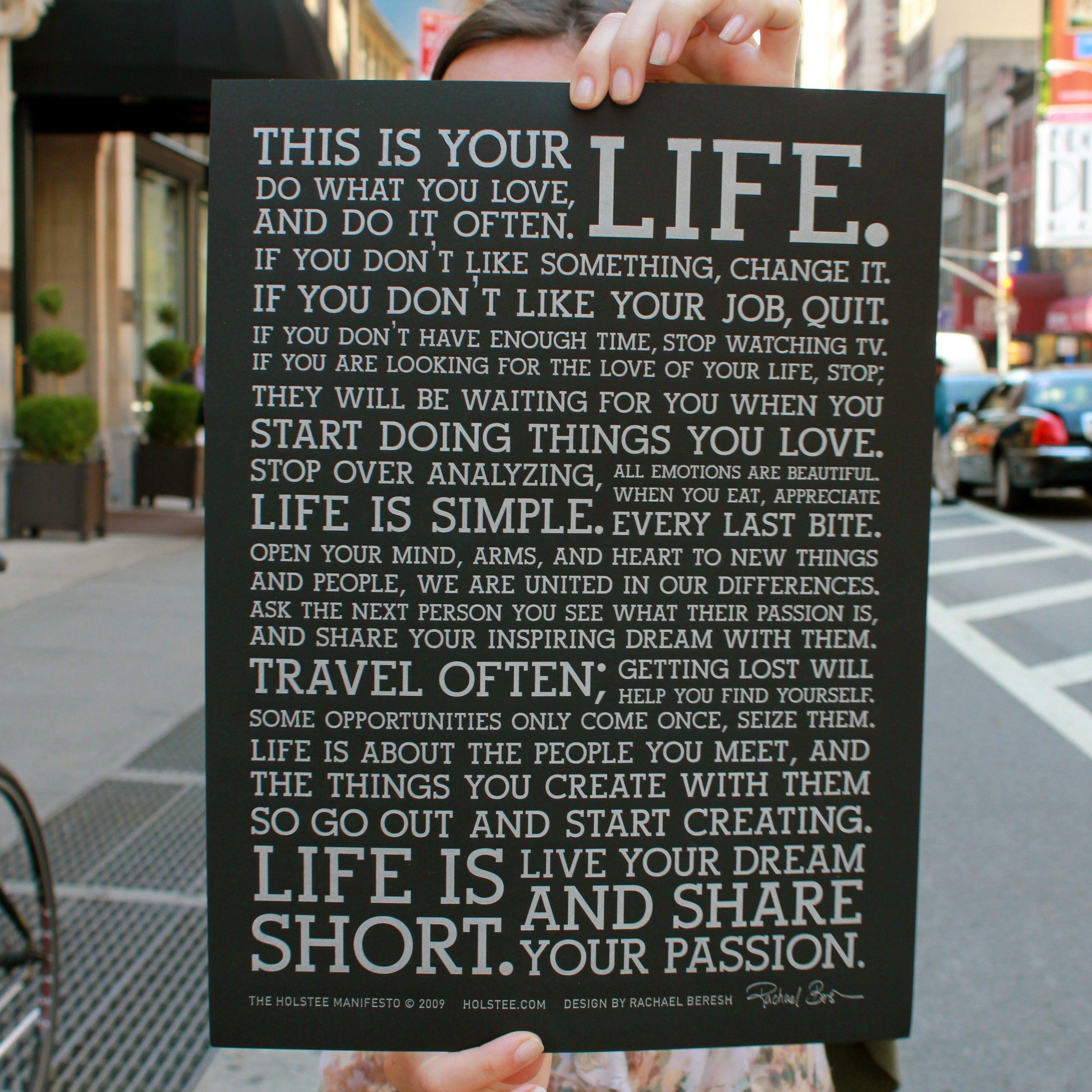 This Is Your Life Quote Poster Decovry  The Explorer  Holstee Manifesto Poster  Black