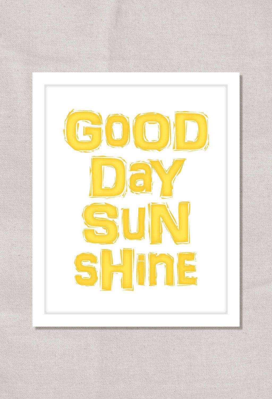 Beatles Quote Art: Typographic Print Song Lyric Print - Good Day ...