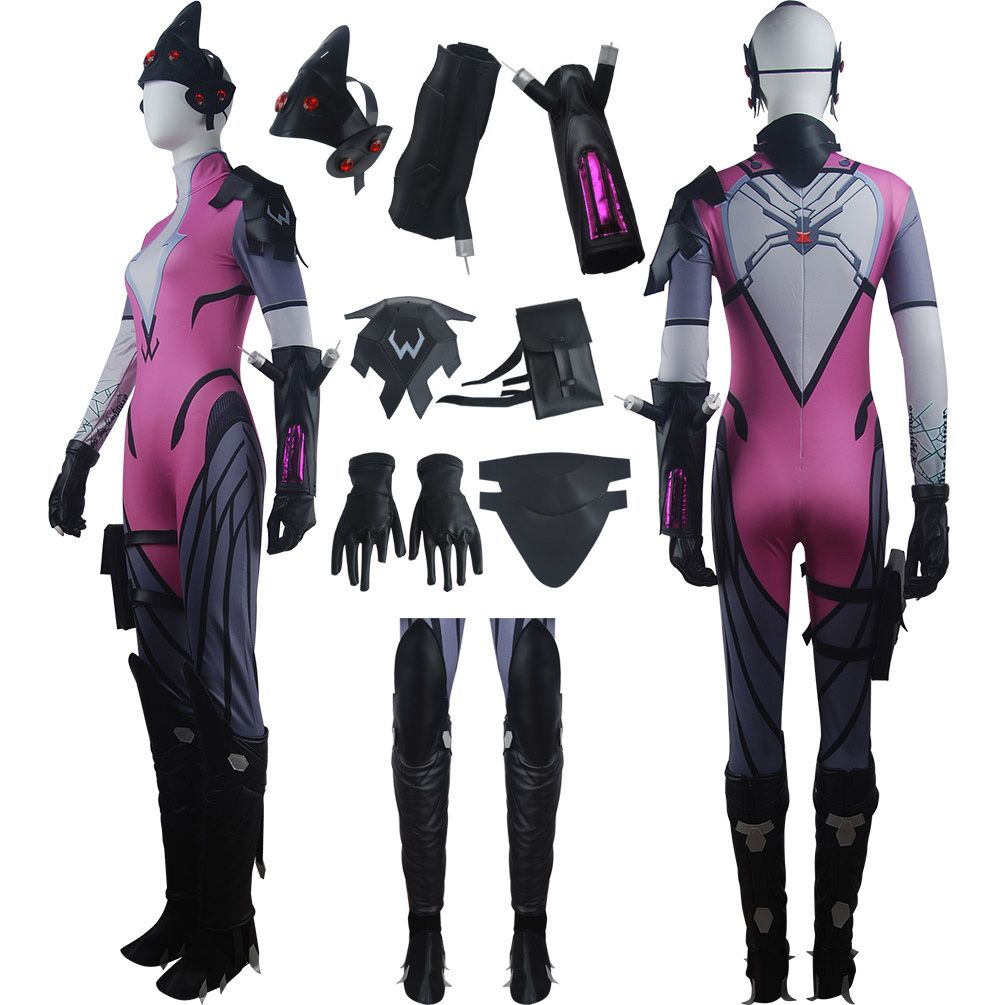 OW Overwatch Widowmaker coplay halloween costume sexy shooter outfit  uniform carnival costume deluxe