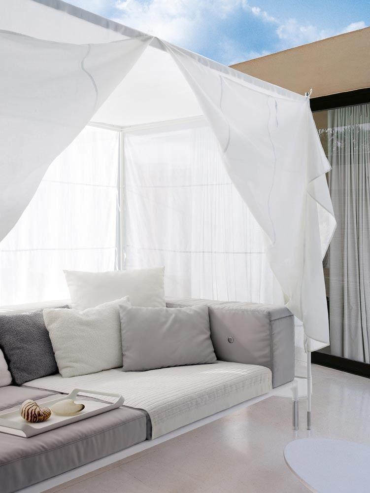 SPRINGTIME Canopy sofa by B CasaUno Pinterest Canopy and - designer gartensofa indoor outdoor