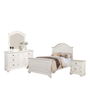 Best Look What I Found On Zulily Addison White Four Piece Bed 640 x 480
