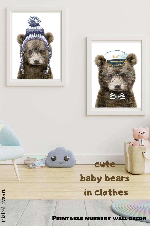 bear nursery wall decor on bear nursery animal print animals with glasses hipster etsy teddy bear nursery teddy bear nursery theme bear nursery print pinterest
