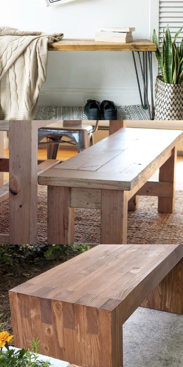 33 Best Diy Bench Ideas For Extra Seating Storage Crazy Laura Diy Bench Farmhouse Bench Diy Diy Dining