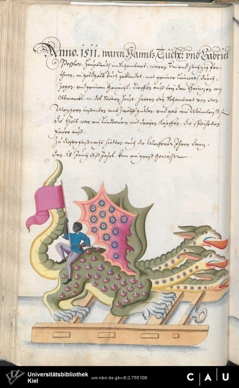 Nürnberger Schembart-Buch Erscheinungsjahr: 16XX  Cod. ms. KB 395  Folio 147