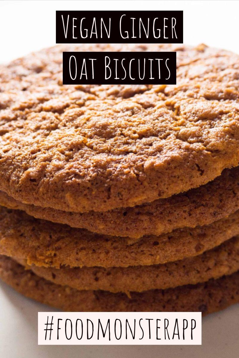 Ginger Oat Biscuits Vegan Gluten Free In 2019 Vegan