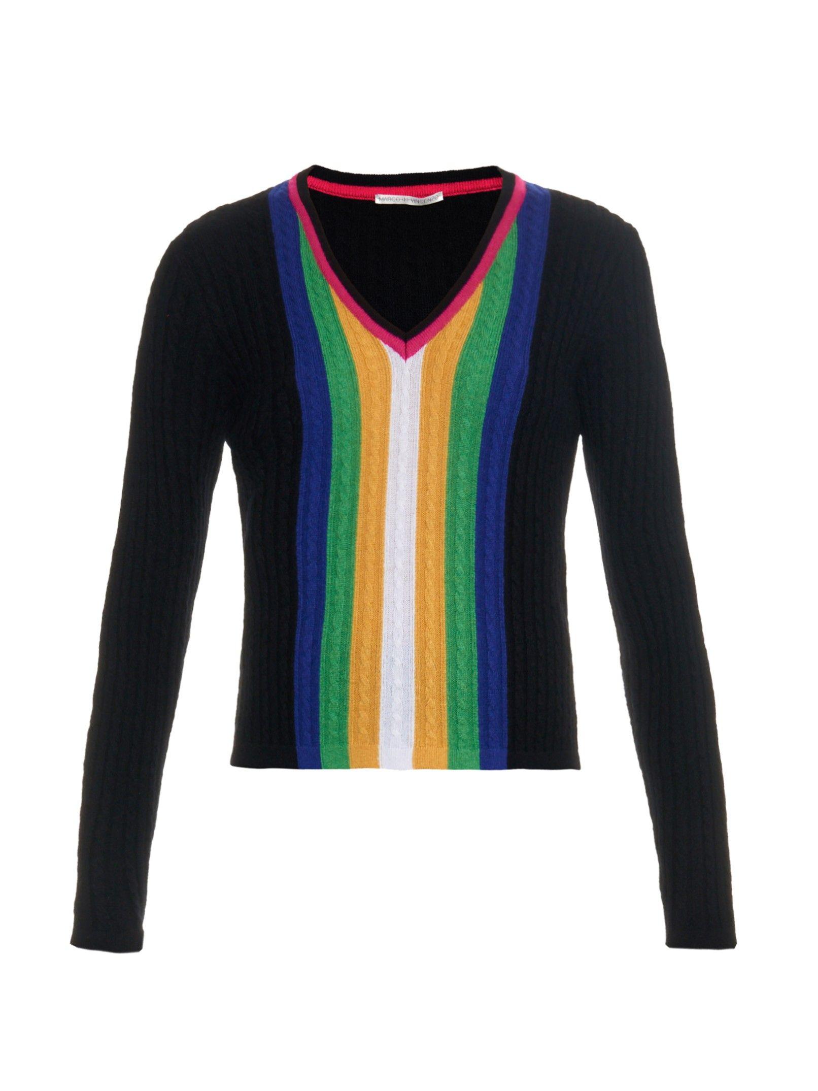 Cashmere cable-knit sweater | Marco De Vincenzo | Knit&Crochet ...