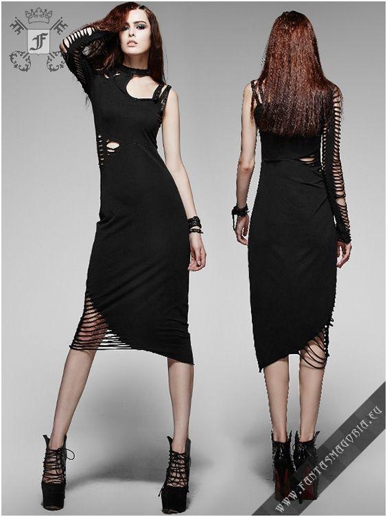 5b41aadcc7b9 Q-247 Delirium - Summer Gothic dress by Punk Rave Asymmetric design ...