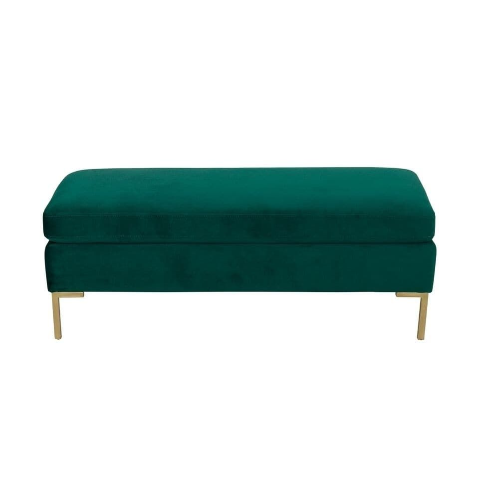 Silver Orchid Hartau Large Emerald Green Velvet Decorative Bench With Pillow Top Upholstered Bench Bench Decor Upholstered Storage Bench