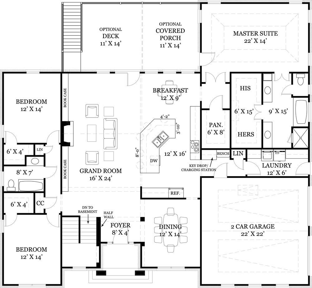 House Plans With Master Bedroom In Basement in 2020