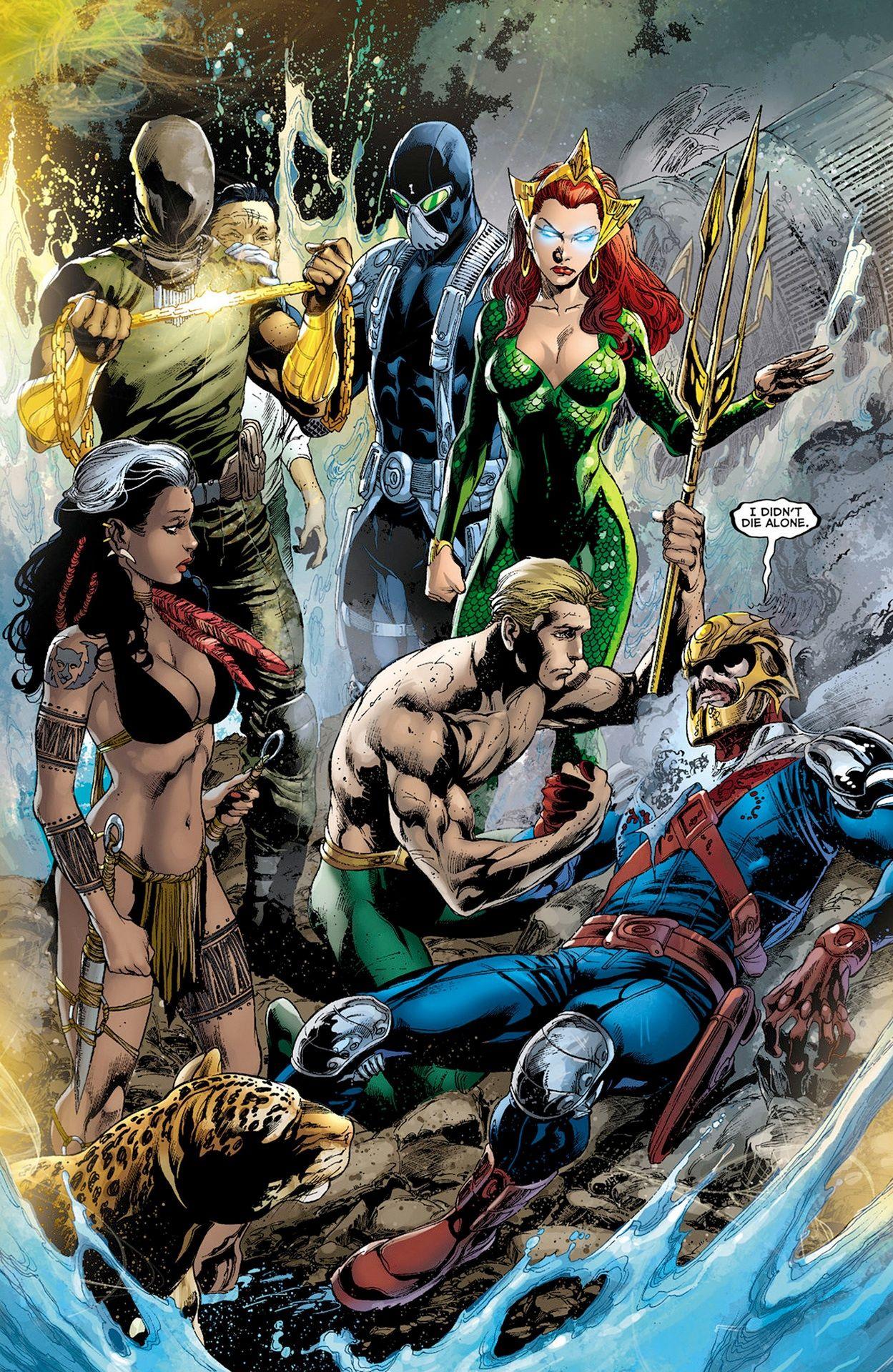 Aquaman & The Others Dc comics art, Comics, Aquaman comic