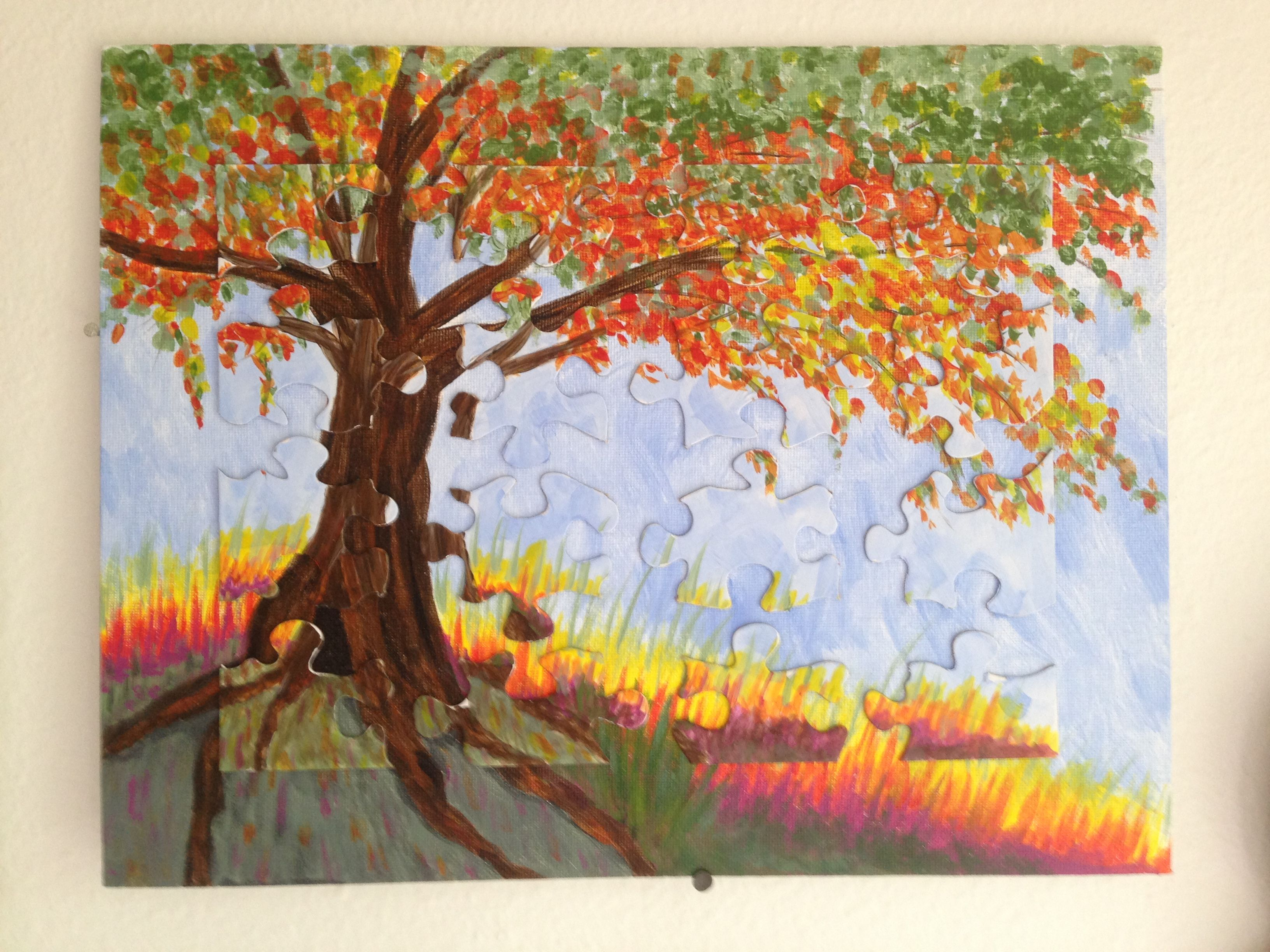 """""""Pieces of Nature"""" Original acrylic on canvas board, with"""