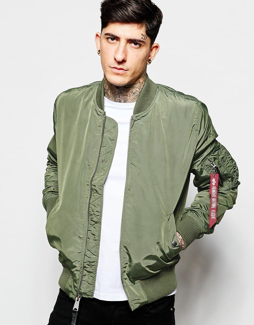 Image 1 of Alpha Industries MA-1 Bomber Jacket Slim Fit ...