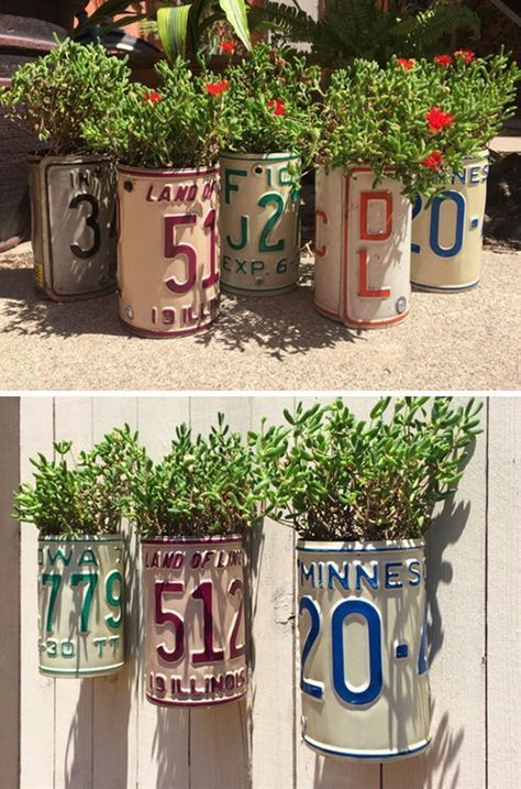 13 Amazing Decor Ideas Using Old License Plates | Creative things ...