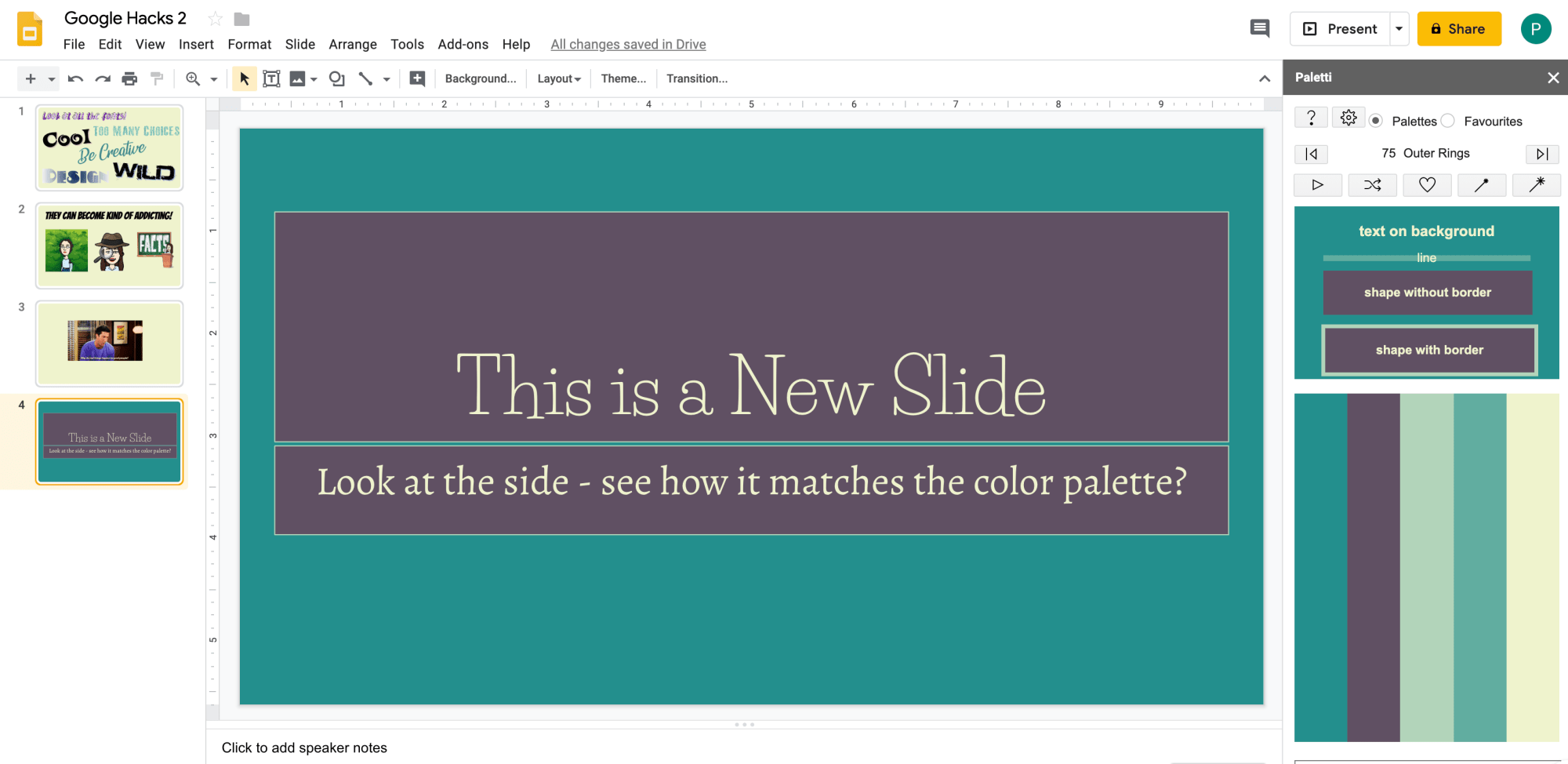 10 Hacks For Creating With Google Slides Part 2 Peacefield History Google Slides Learning Google Classroom Google