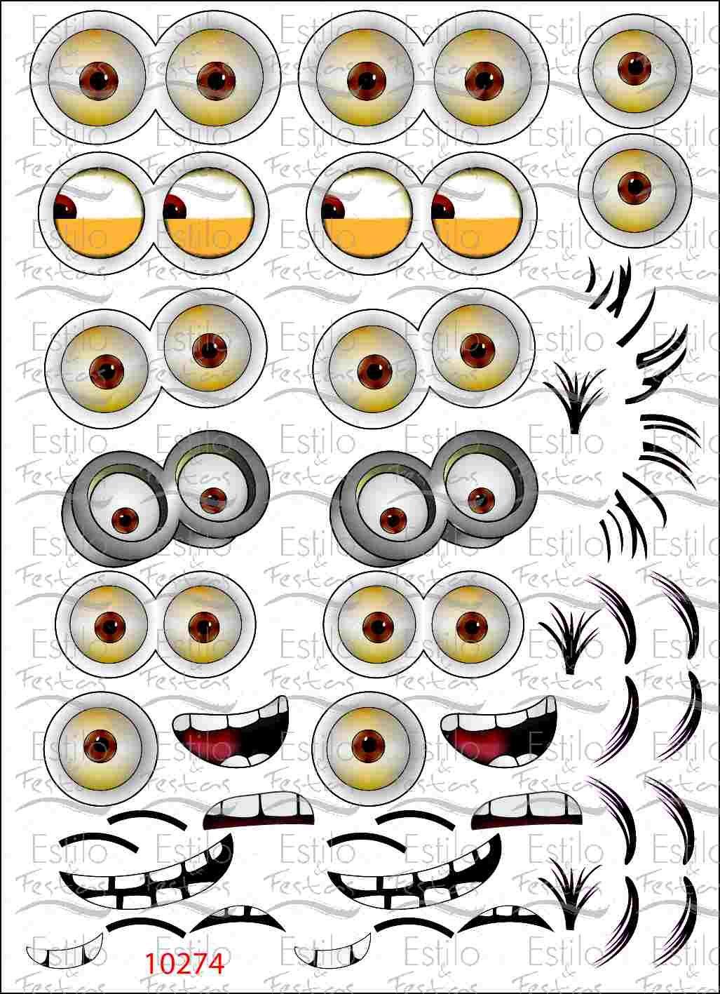 Adesivo Olhos Dos Minions Adesivo Para Balao Turma Dos Miniosns