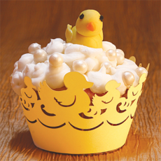 Duckies Cupcake Wrapper Canary Yellow