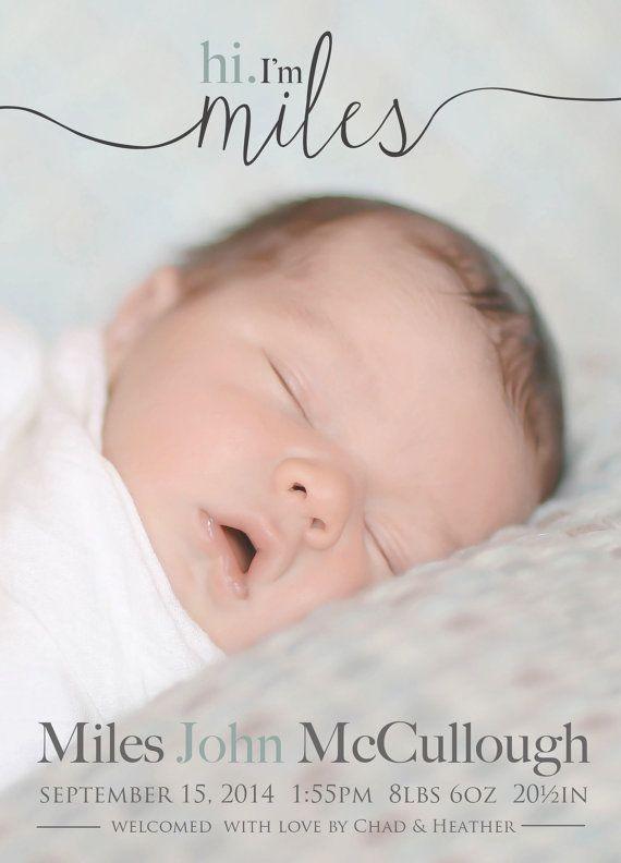 Hallo Geburtsanzeige Foto Baby Ank 252 Ndigung Baby Von
