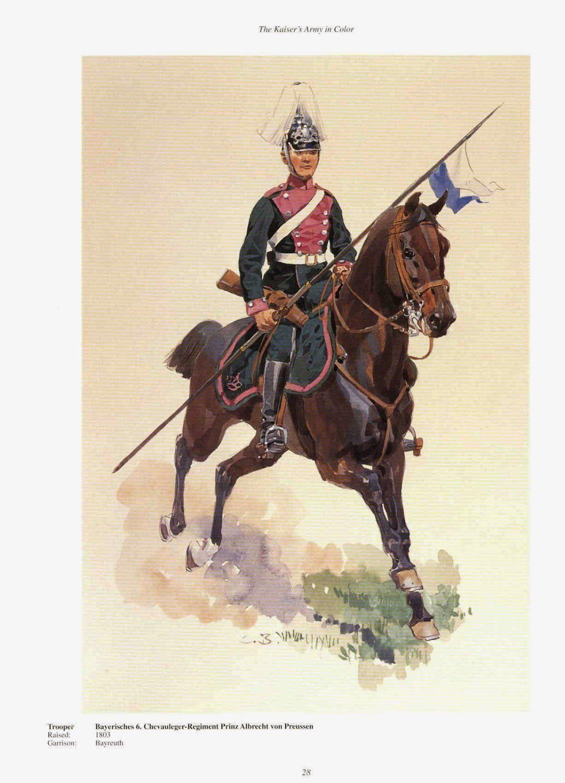 German 6th Royal Bavarian Chevauleger Regt Prinz Albrecht Von