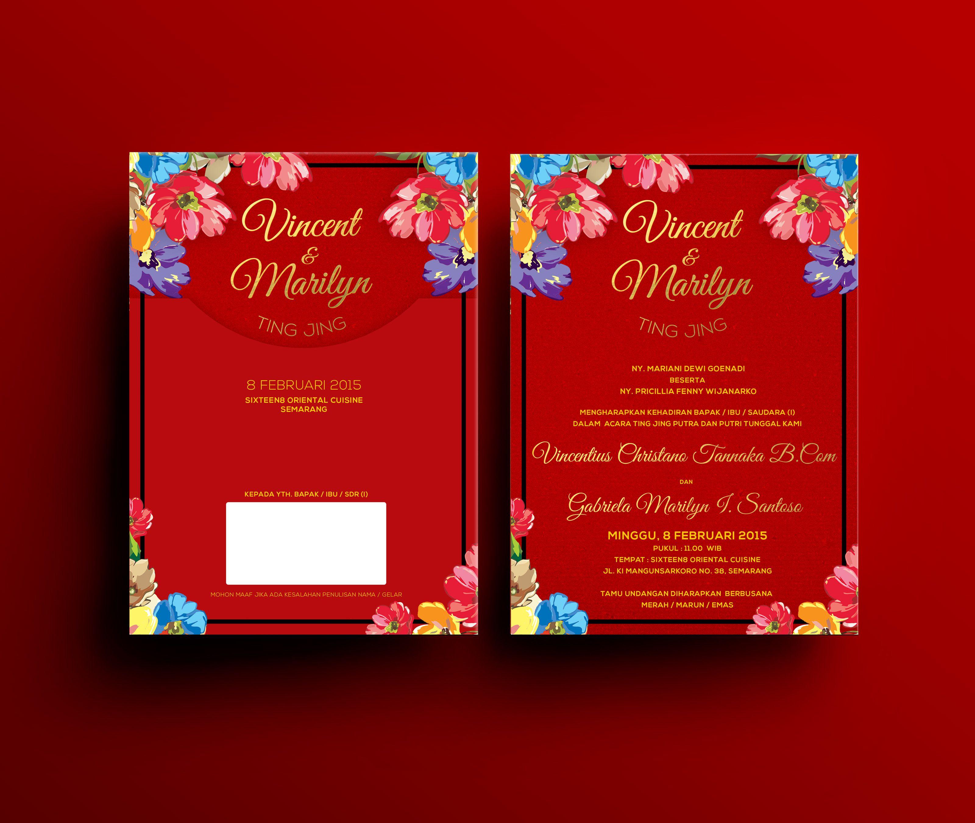 Deep red wedding invitation idea | Inspiring post by Bridestory.com ...
