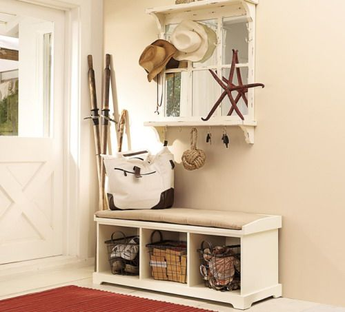 Beach themed entryway storage bench ideas understating the perfect ...