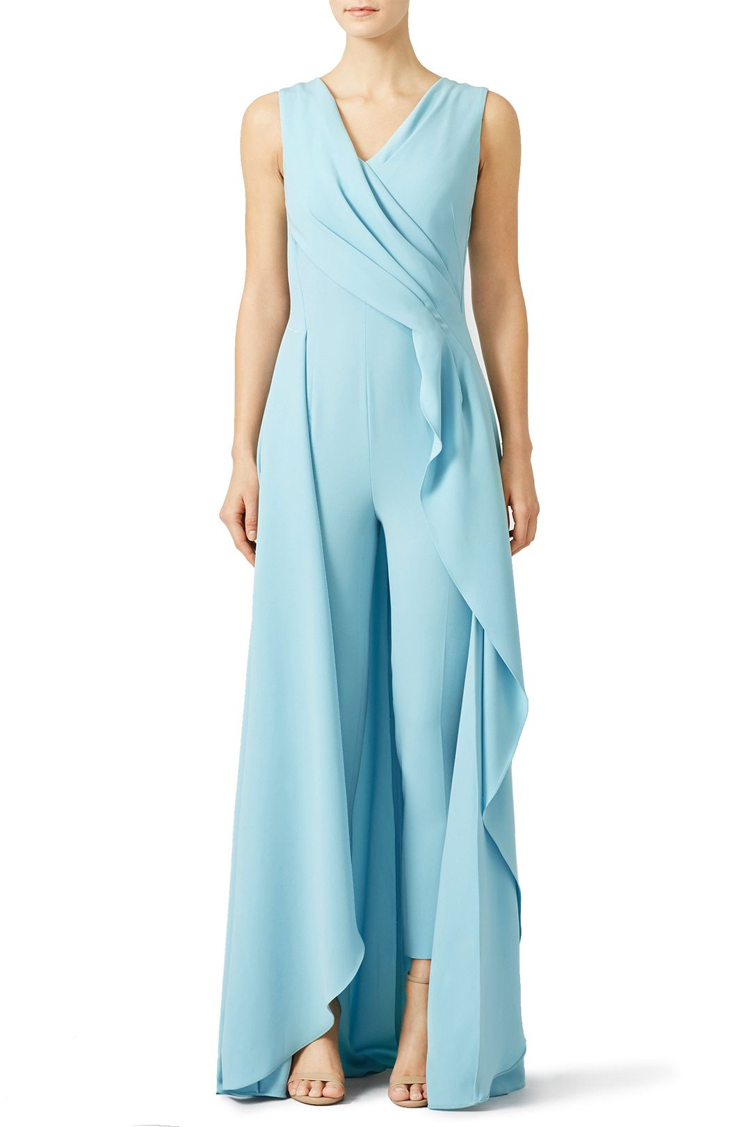 847ec68b323 Rent Light Blue Petal Jumpsuit by Escada for  400 only at Rent the Runway.