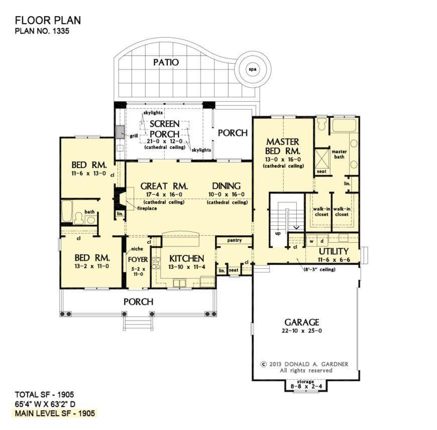 SingleStory 3Bedroom The Coleraine Home (Floor Plan) in