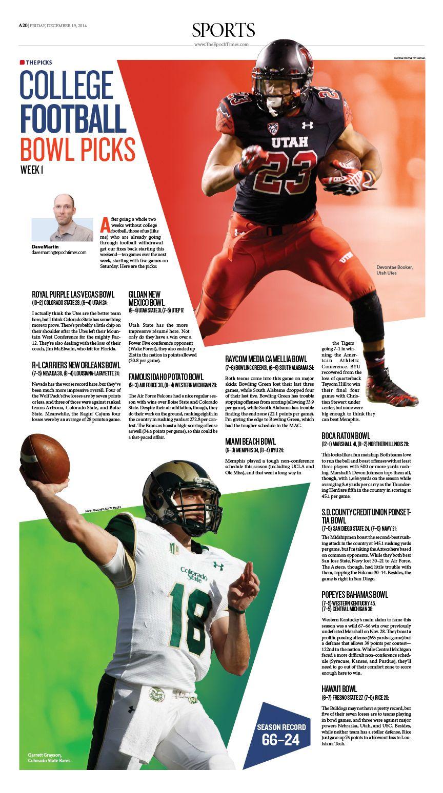 College Football Bowl Picks |Epoch Times newspaper