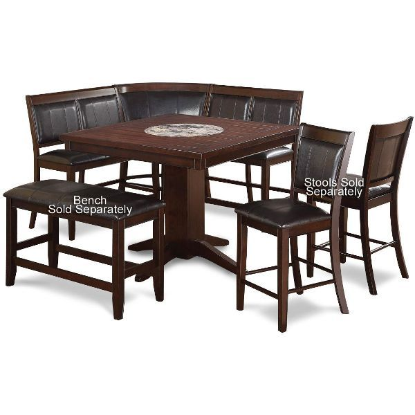 Harrison Brown 4-Piece Counter Height Dining Set