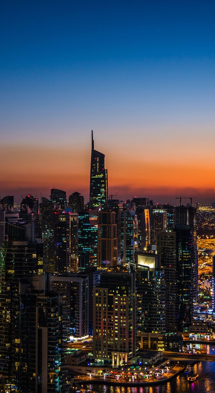 1440x2630 Cityscape, night of city, Dubai wallpaper ...