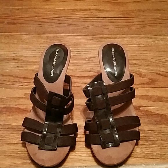Brown Bandolino Heels.         Last Chance Brown Heels. Very light wear. Bandolino Shoes Heels