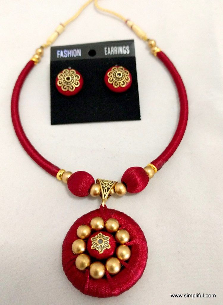 2587617aa Choose this Simple, Colorful and beautiful Silk thread choker necklace and  make your style elegant Please allow some variation in color