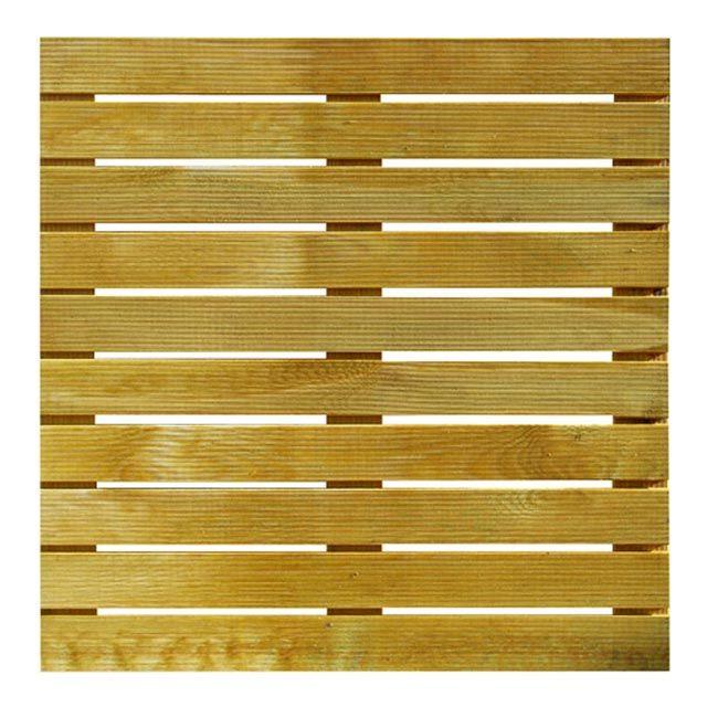 Dalle de terrasse en pin Tingo 100 x 100cm, ép28mm - CASTORAMA