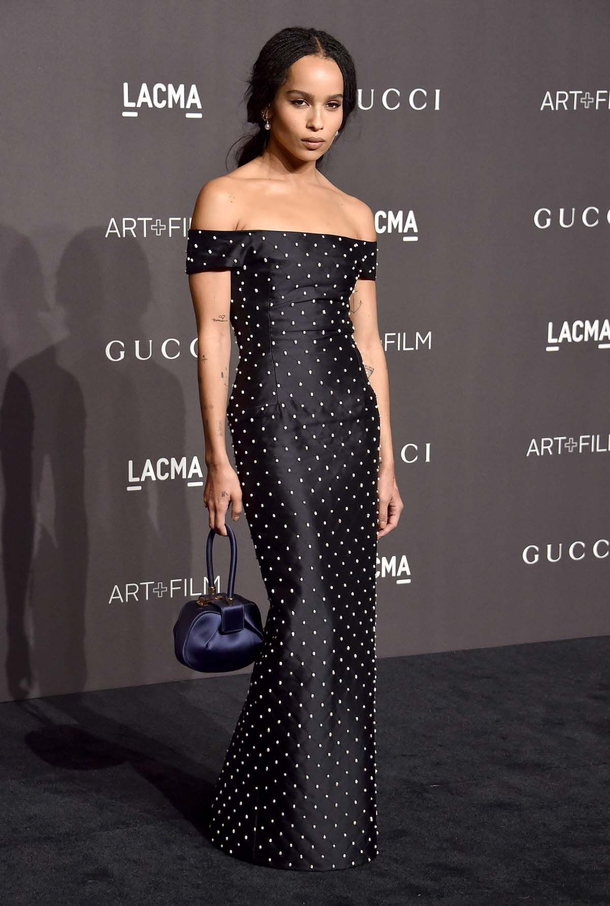 304cd6a8d1 Zoe Kravitz in Gabriela Hearst at LACMA 2018