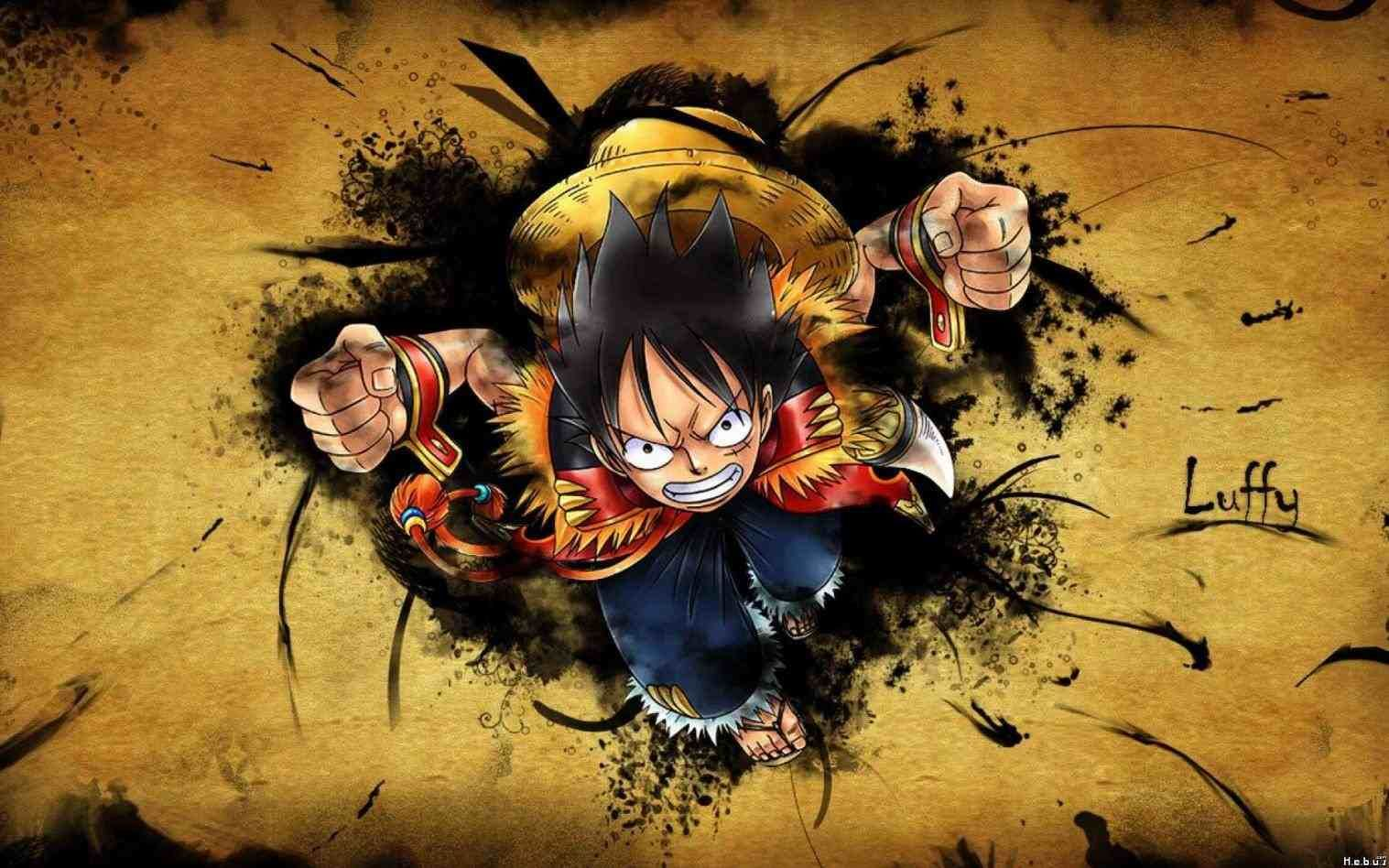 One Piece New World Luffy Wallpaper Gambar Gambar Anime Kartun