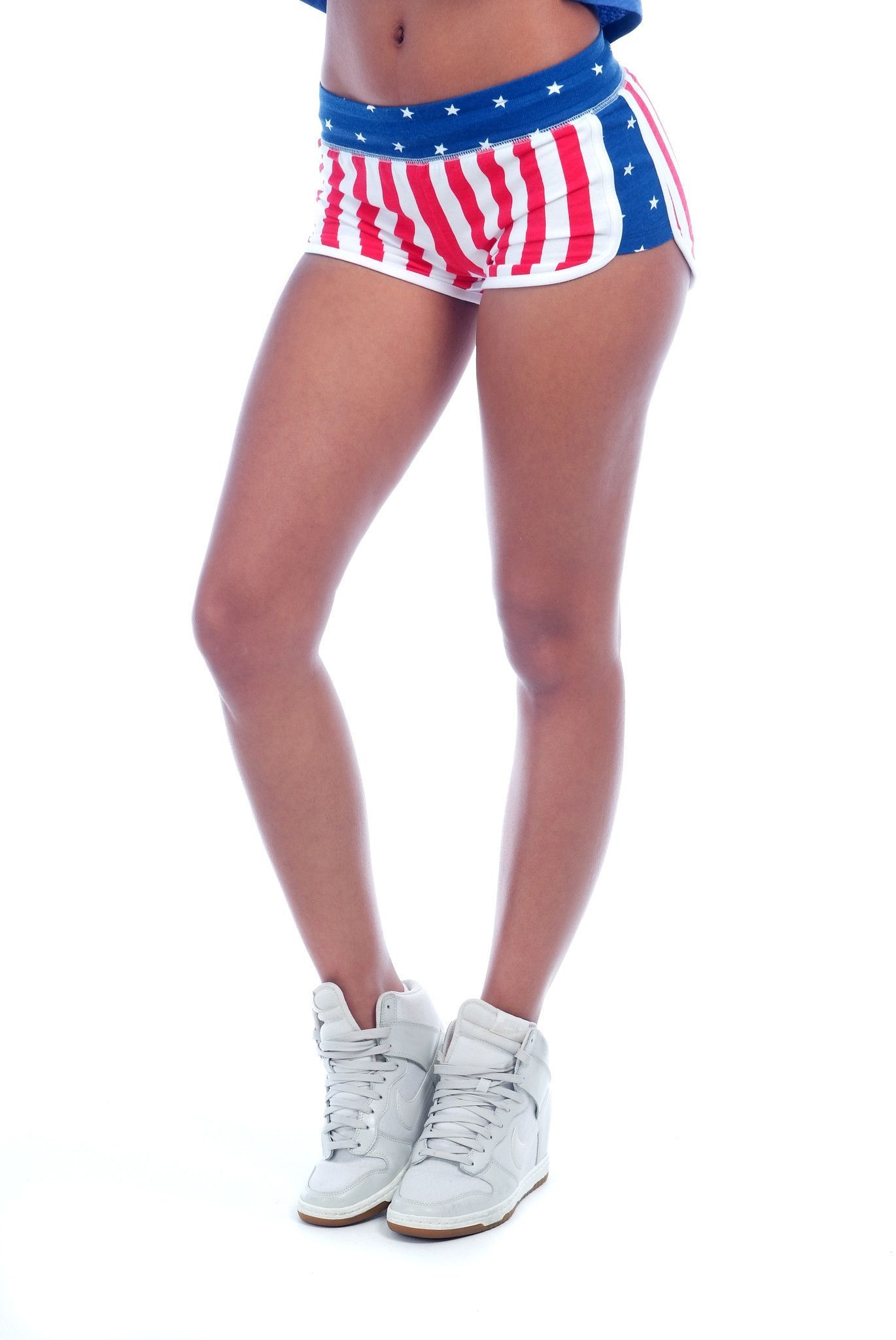 Sporty Short With U S Flag Print American Flag Shorts Sporty Shorts Flag Outfit