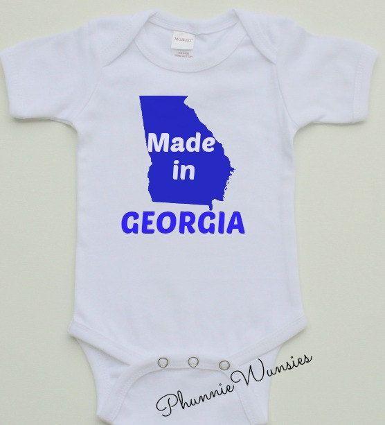 Made in Georgia Onesie Hometown Shirt for by PhunnieWunsies