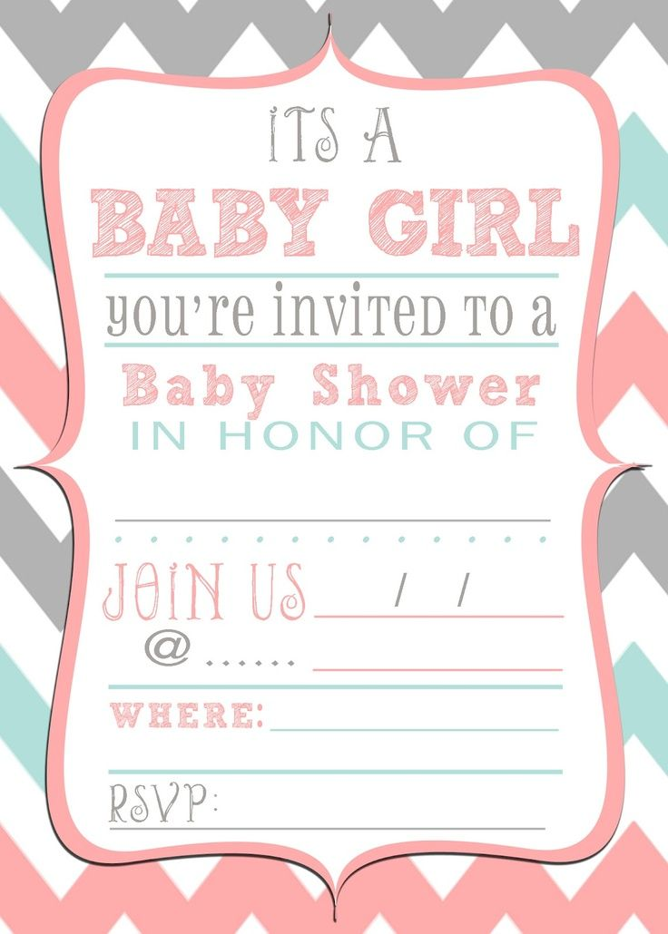 free printable baby shower invitations templates for girls - Goal ...