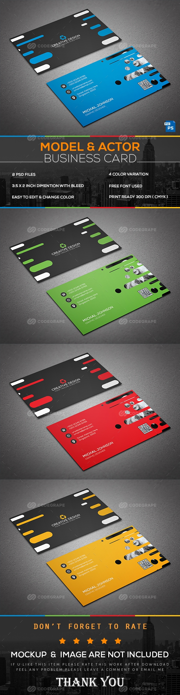 Model & Actor Business Card   Business cards, Business and Card ...