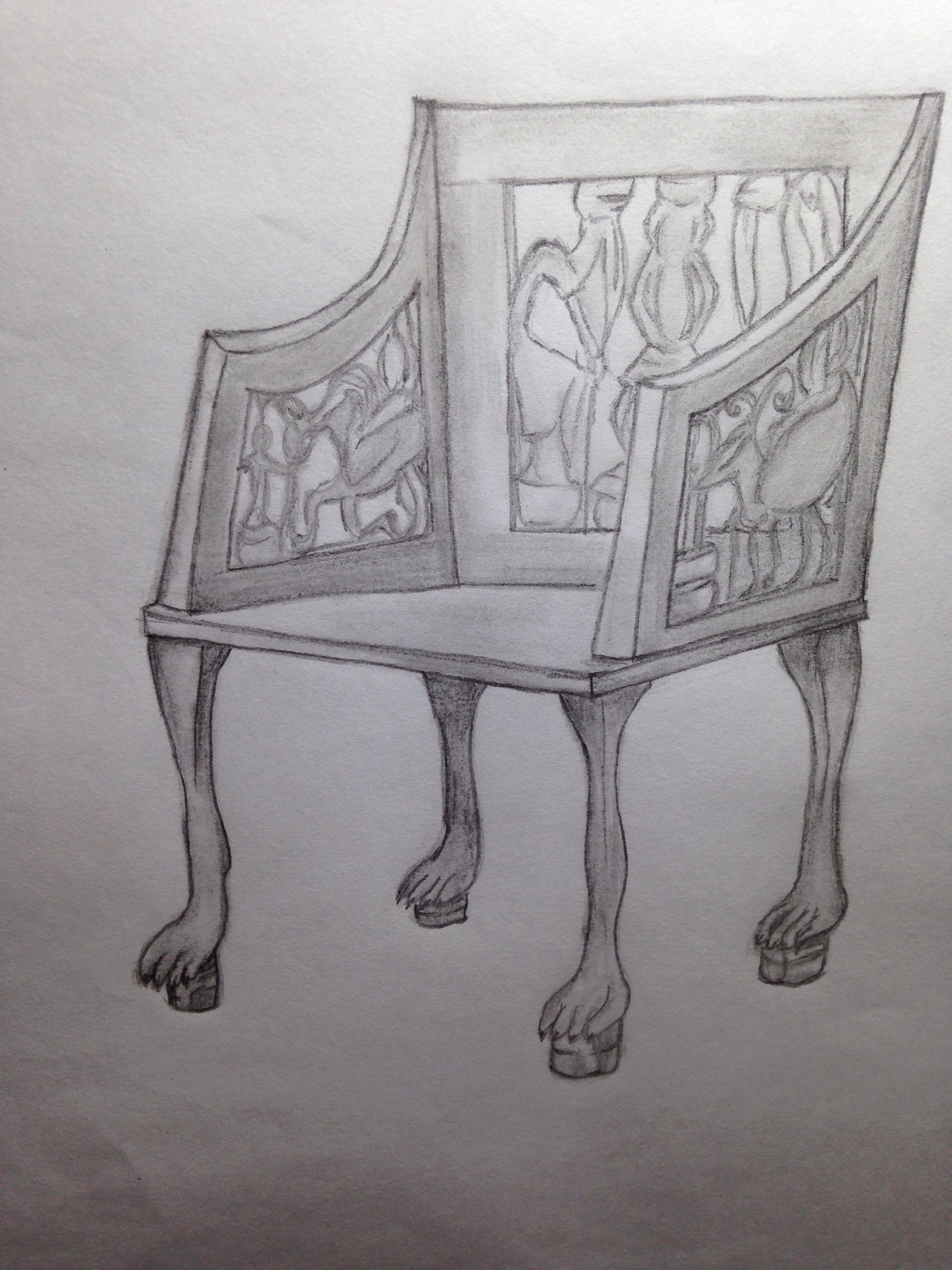 Egyptian Chair Furniture Drawings Pinterest