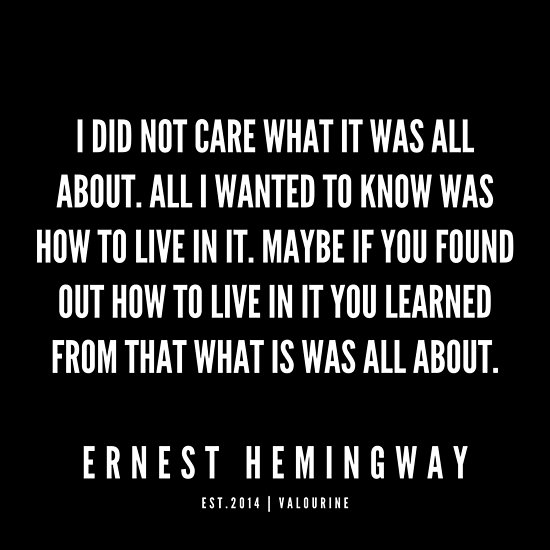 '100   |Ernest Hemingway Quote Series  | 190613' Poster by QuotesGalore