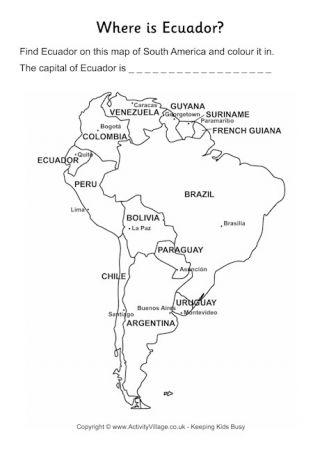 Ecuador Fact Worksheet Ecuador Colombia Peru