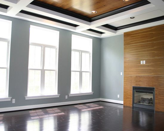 Modern Coffered Ceiling Design - love how it plays with ...