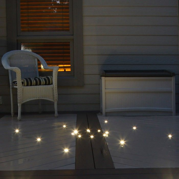 Recessed Deck Dot Led Lights 4 Pack Indoor Outdoor